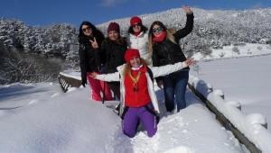 Bolu'da kar yürüyüşü yapıldı