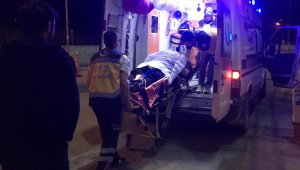 Bafra'da devrilen kamyonetin sürücüsü yaralandı