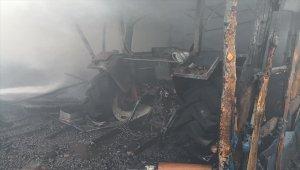 Bolu'da odunluk yangını