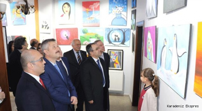 Gazi Mustafa Kemal Ortaokulu resim sergisi