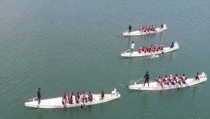 Samsun'da dragon bot yarışları başladı