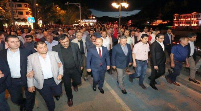 Amasya'da 15 Temmuz Demokrasi ve Milli Birlik Yürüyüşü