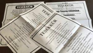 Ziraat odasından Cumhurbaşkanı Erdoğan'a ilanlı teşekkür
