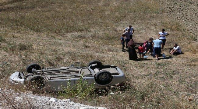 Bolu'da otomobil takla attı: 4 yaralı