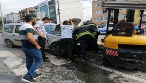 Samsun'da otomobil ile forklift çarpıştı: 5 yaralı