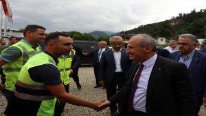 Ulaştırma ve Altyapı Bakanı Mehmet Cahit Turhan Rize'de