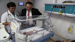 650 gram doğan Umut bebek hayata tutundu
