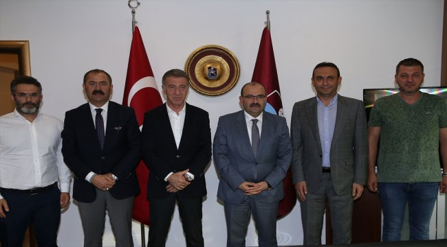 Trabzon Valisi Ustaoğlu, Trabzonspor yönetimini ziyaret etti