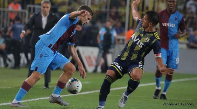 Trabzonspor, Fenerbahçe ile 1-1 berabere kaldı