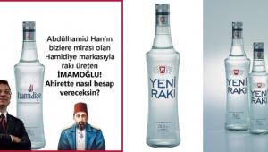İstanbul Büyükşehir Belediyesi'nin Hamidiye markasıyla rakı ürettiği iddiası