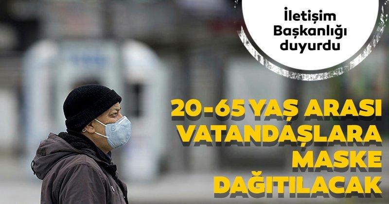 PTT 20-65 yaş arası vatandaşlarımıza ücretsiz maske dağıtılacak