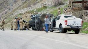 Van'da askeri araç devrildi: 6 yaralı