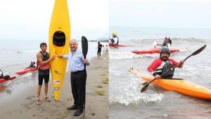 Altınordu Akyazı plajında, kano ve yelken tesisi açıldı