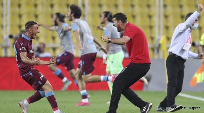 Trabzonspor'un 2-1 lik Fenerbahçe galibiyeti şehri havaya soktu