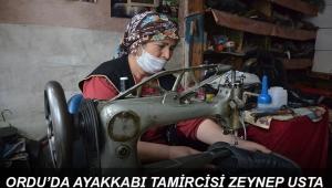 ORDU'NUN AYAKKABI TAMİRCİSİ ZEYNEP USTA !