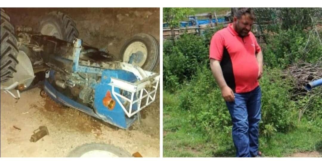 Reşadiye'de Traktör Kazası