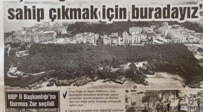 Ordu Büyük Şehir Belediye Meclisinin gündemi : Çamlık