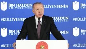 İbn Haldun Üniversitesi Külliyesi Açılış Töreni'nde konuşan Cumhurbaşkanı Erdoğan,