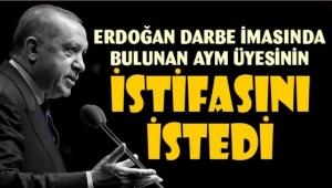 Erdoğan 'ışıklı' imasında bulunan AYM üyesi Engin Yıldırım'ın istifasını istedi