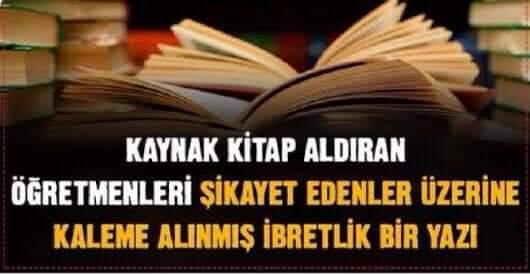 Okullar açıldı kaynak kitap meselesi de açıldı...