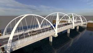 Terme'nin yeni köprüsü hızla yükseliyor