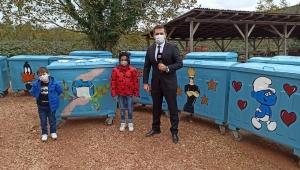 Çocukları temizliğe özendirmek amacıyla, tüm çöp konteynırları çizgi roman karakterleriyle süslendi