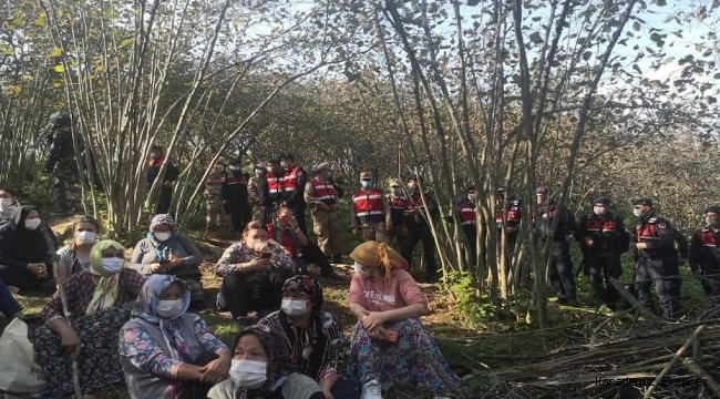 Ordu Ünye'de Üçpınar köyünde Köylüler direndi, jandarma ve sondaj ekibi çekildi