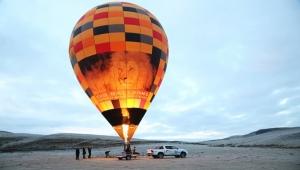 Perşembe Yaylası'nda, sıcak hava balonu deneme uçuşu gerçekleştirildi