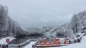 Ulugöl 'de kar kartpostalları aratmayan görüntüler oluşturdu