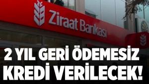 Ziraat Bankası 2 yıl geri ödemesiz kredi verecek!