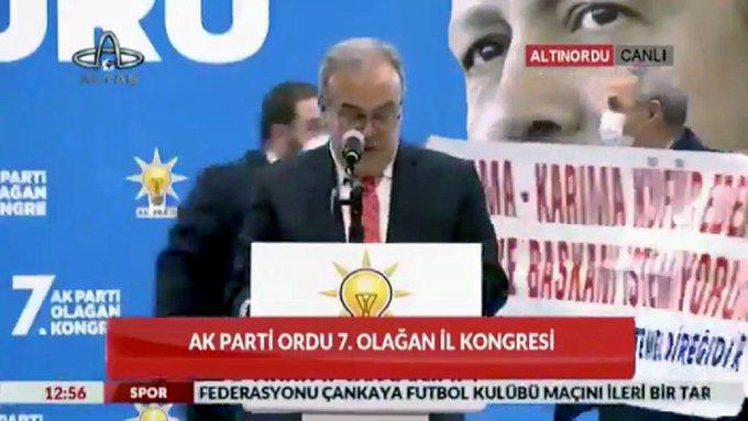 AKP Ordu 7. Olağan Kongresi'nde ilginç bir olay yaşandı