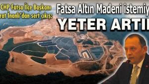 CHP Fatsa İlçe Başkanı Murat İnanlı'dan sert çıkış
