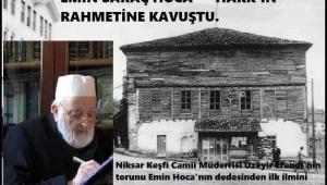 EMİN SARAÇ HOCA'YI KAYBETTİK..