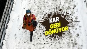 Kar yağışı geri dönüyor! İstanbul'a kar yağacak mı? Meteoroloji kar yağacak 3 ili açıkladı.