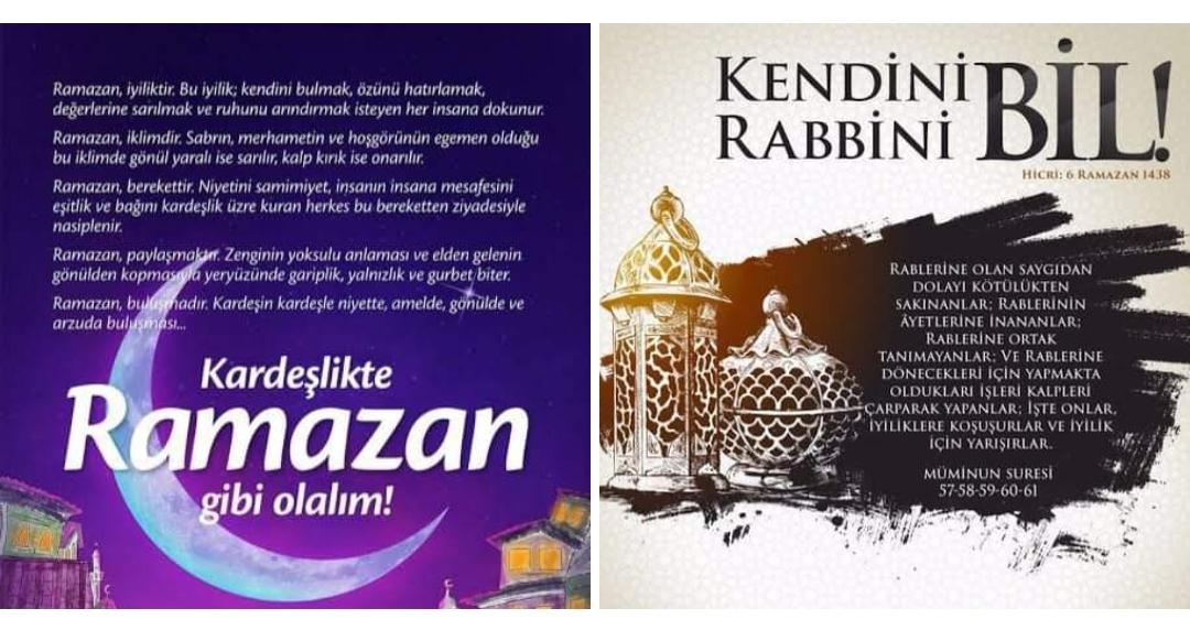 Güncel Ramazan Tavsiyeleri...