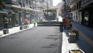 Çiftlik Caddesi'nde asfaltlama çalışmaları başladı