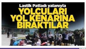 İSTANBUL DAN SİNOP İSTİKAMETİNE GİDEN OTOBÜS 24 YOLCUYU YOL KENARINA BIRAKIP KAÇTI...