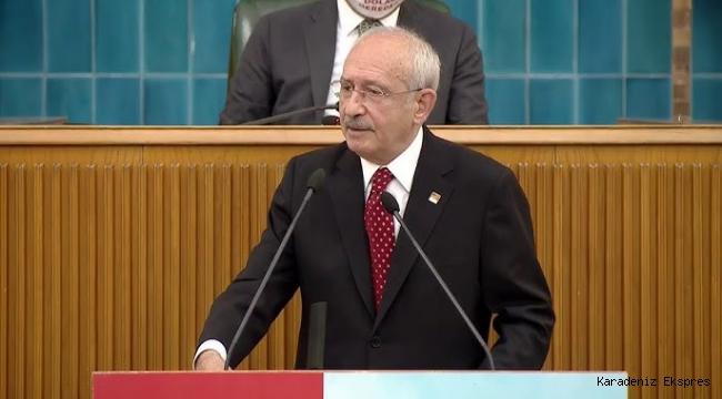 CHP lideri Kemal Kılıçdaroğlu, partisinin grup toplantısında konuştu