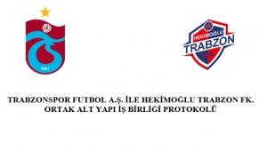 Trabzonspor Kulübü ile Hekimoğlu Trabzon Futbol Kulübü Alt Yapı çalışmalarına ilişkin ortak iş birliği protokolü yaptı