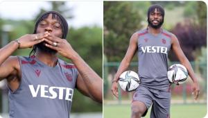Trabzonspor'un yeni transferi Gervinho antrenman öncesi açıklamalarda bulundu