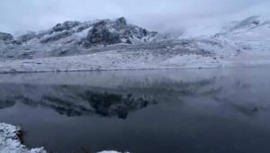 Doğu #Karadeniz'in yüksek kesimlerine kar yağdı..!