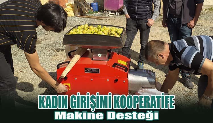 Kadın Girişimi Kooperatife Makine Desteği Sağlandı